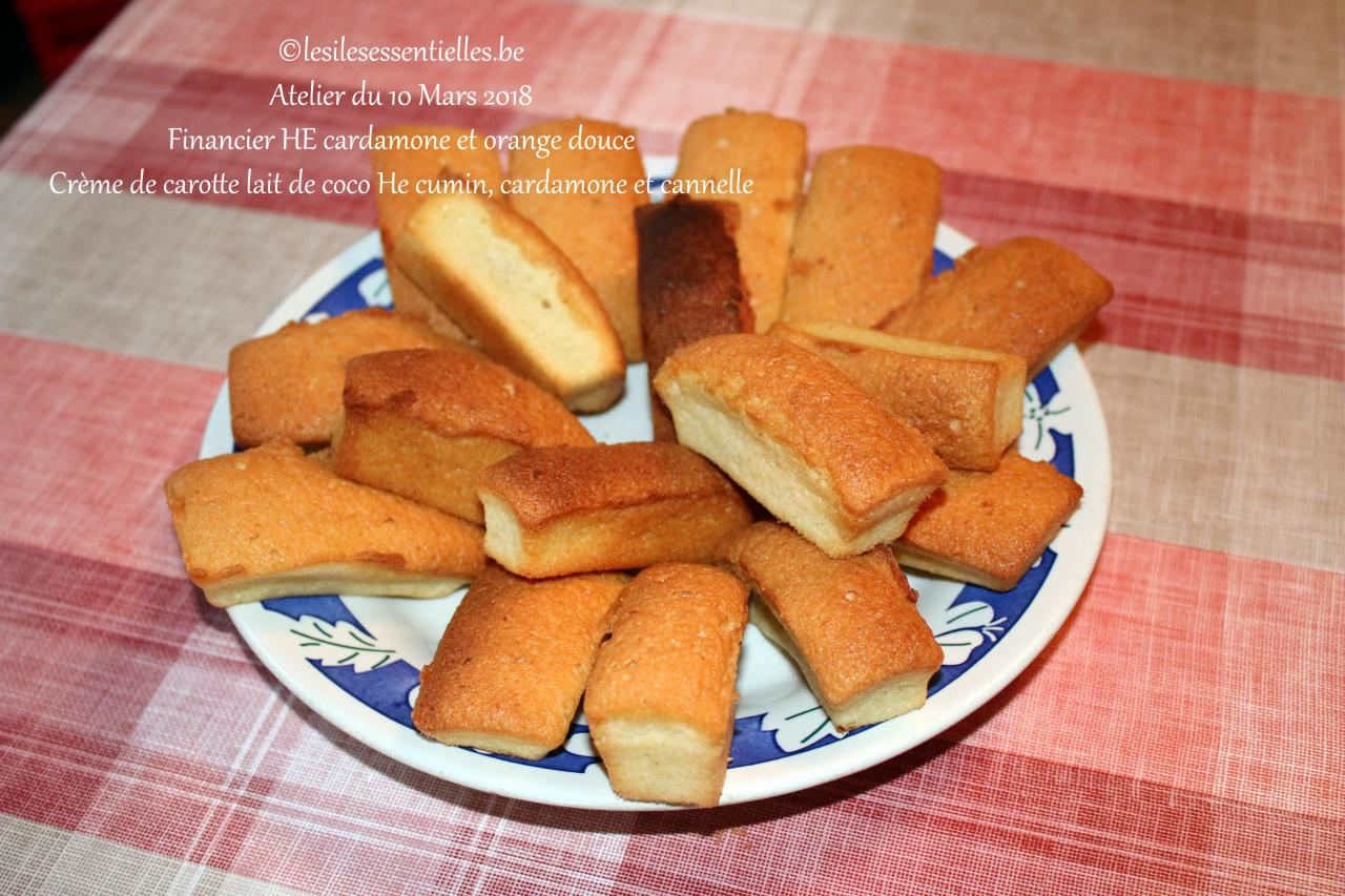 Financier HE cardamone et orange douce