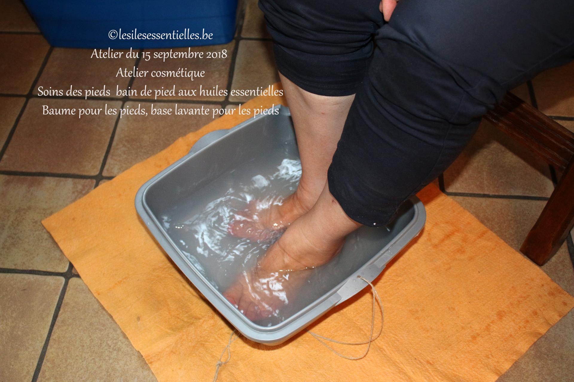 Soins des pieds  bain de pied aux huiles essentielles  Atelier pratique