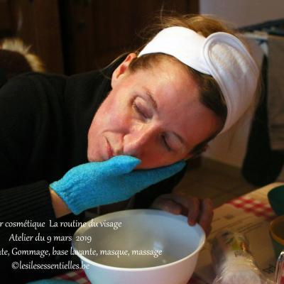 Atelier cosmétique du 9 mars 2019 La routine du visage
