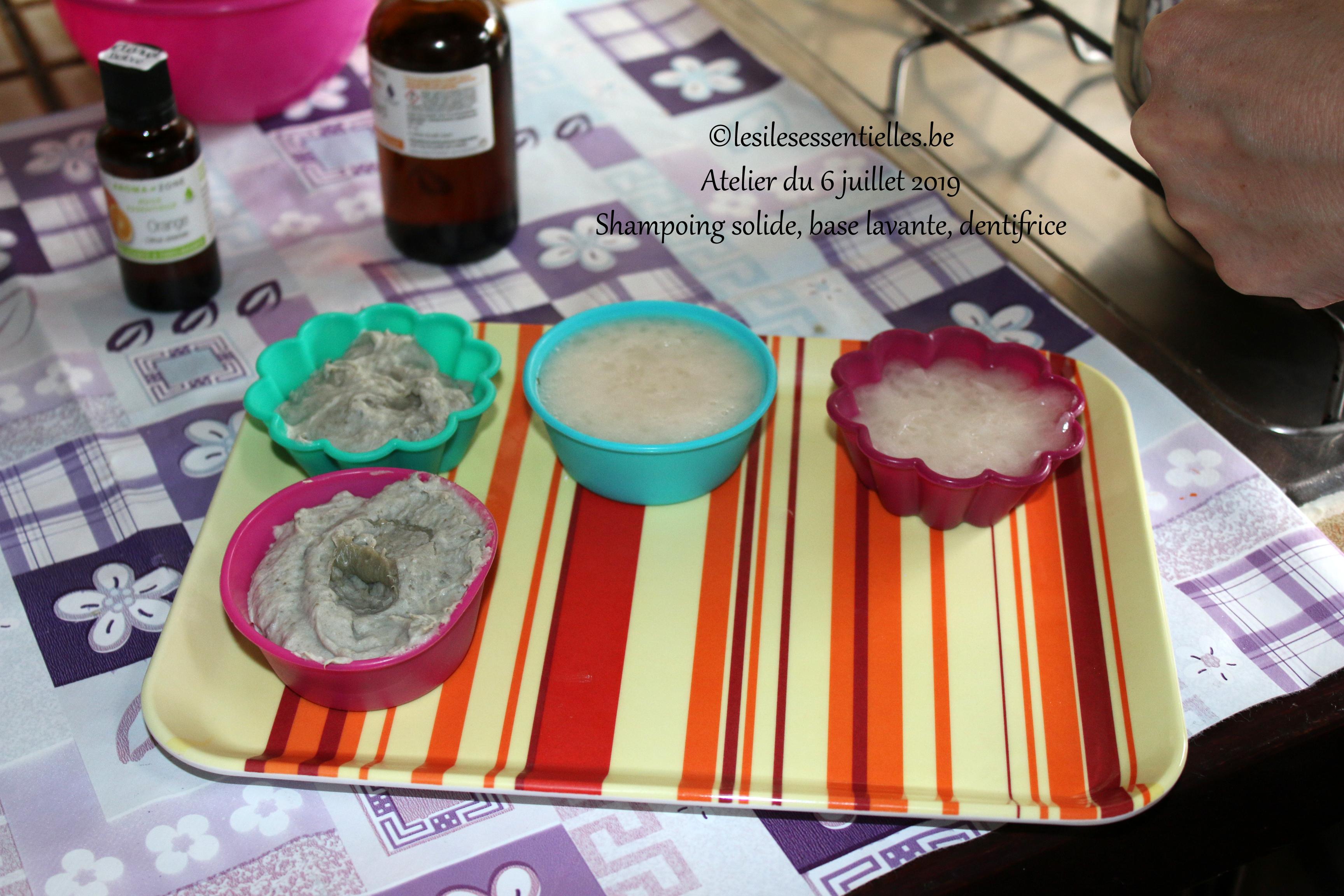 Shampoing solide, base lavante, dentifrice