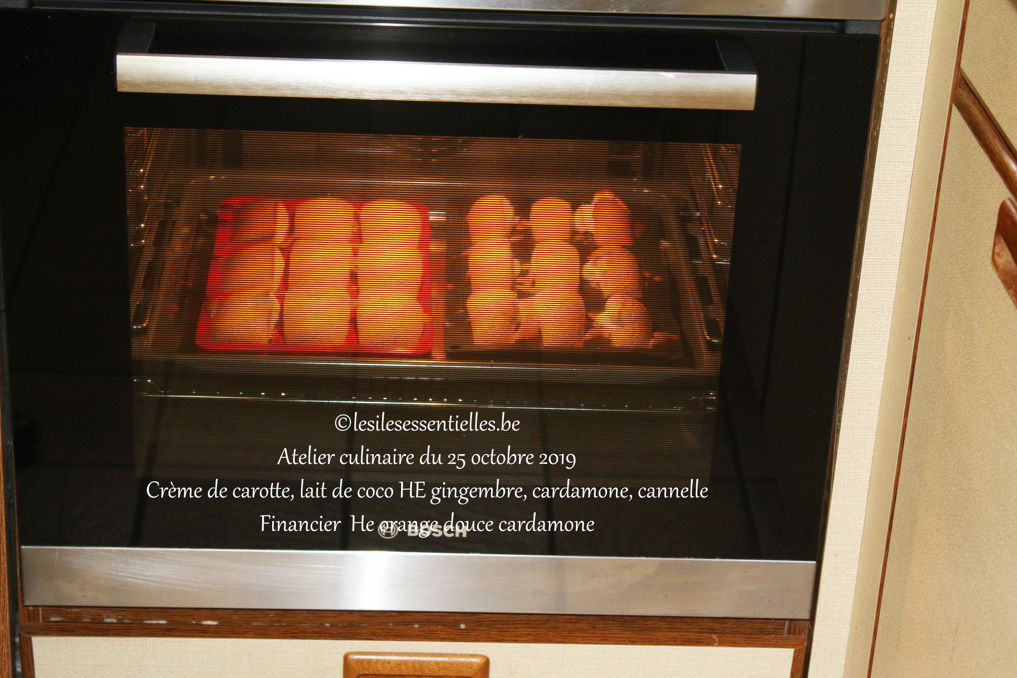 Financier  He orange douce cardamone