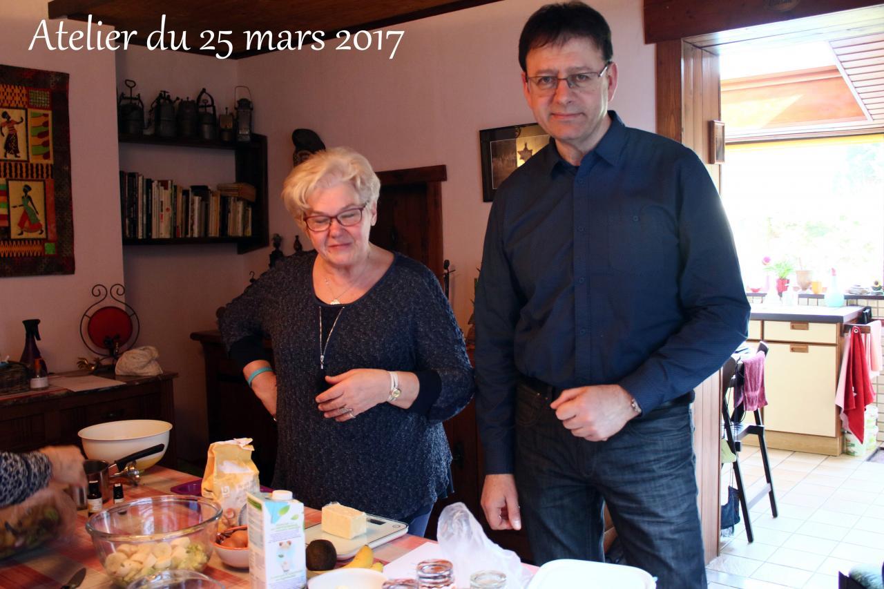Atelier culinaire du 25 Mars 2017